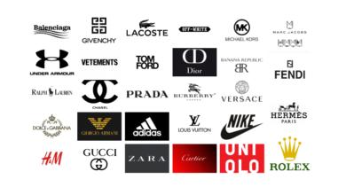 اسماء الماركات العالمية للملابس